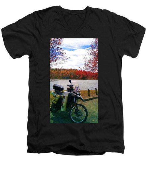 Fall At Fern Clyffe Men's V-Neck T-Shirt