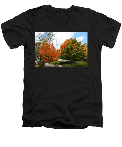 Fall Foliage Colors 09 Men's V-Neck T-Shirt