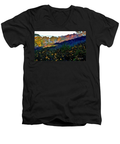 Fall On Garvin Heights Men's V-Neck T-Shirt