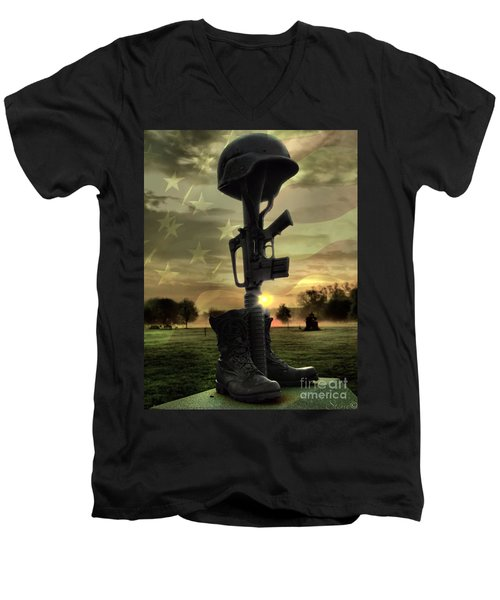 Fallen Soldiers Memorial Men's V-Neck T-Shirt