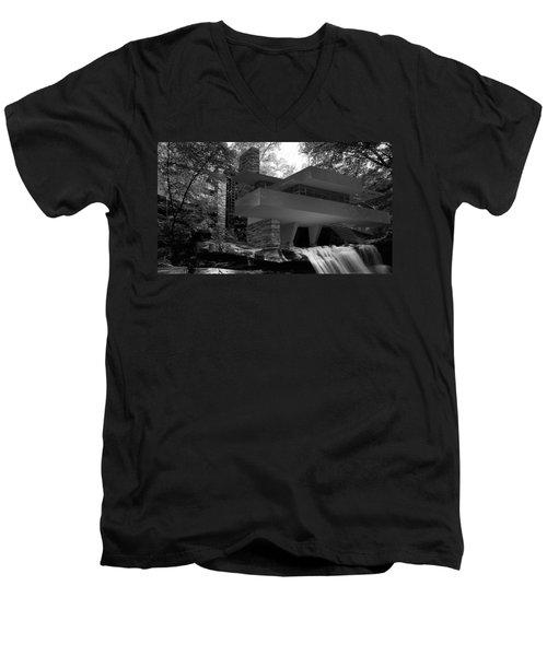 Falling Waters Men's V-Neck T-Shirt by Louis Ferreira