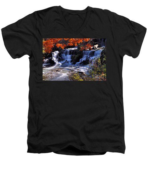 Falls In The Fall Men's V-Neck T-Shirt