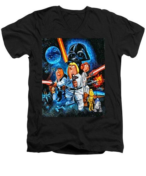Family Guy Star Wars Men's V-Neck T-Shirt