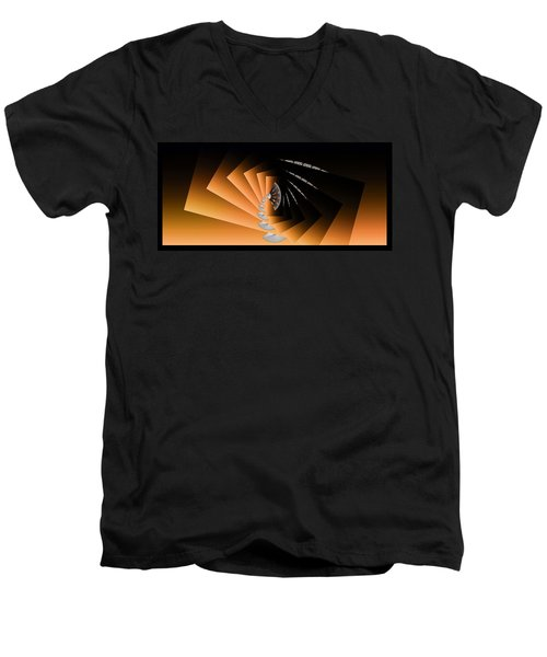 Fantasim Orange Men's V-Neck T-Shirt by Paula Ayers
