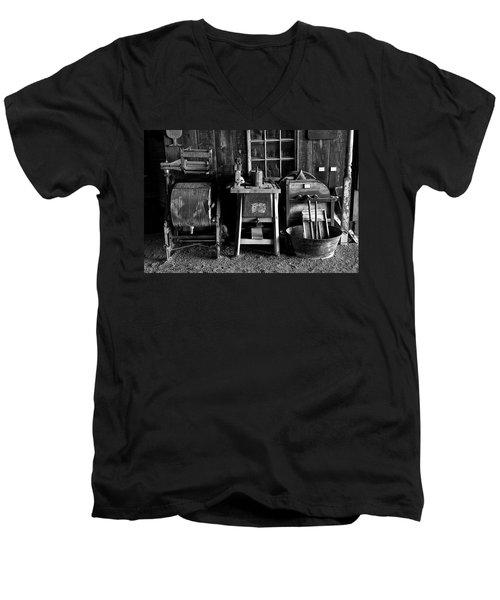 Farm Antiques Men's V-Neck T-Shirt by Richard J Cassato