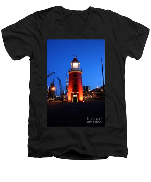 Faro Museo De Rotterdam Holland Men's V-Neck T-Shirt