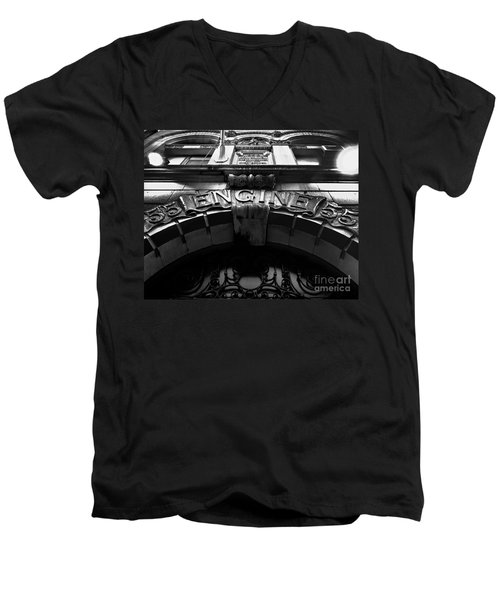 Fdny - Engine 55 Men's V-Neck T-Shirt