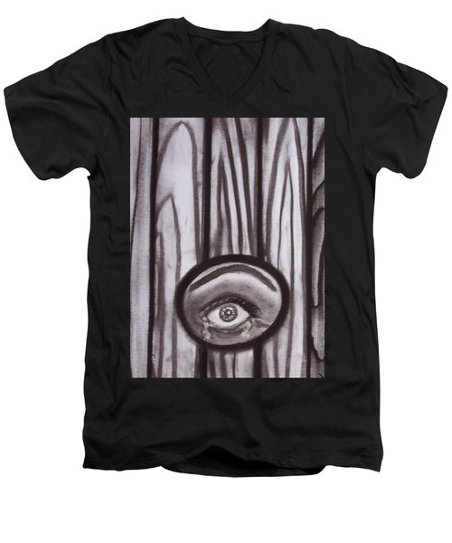 Fear - Eye Through Fence Men's V-Neck T-Shirt