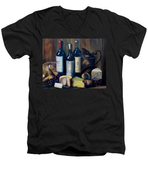 Feast Still Life Men's V-Neck T-Shirt by Donna Tuten
