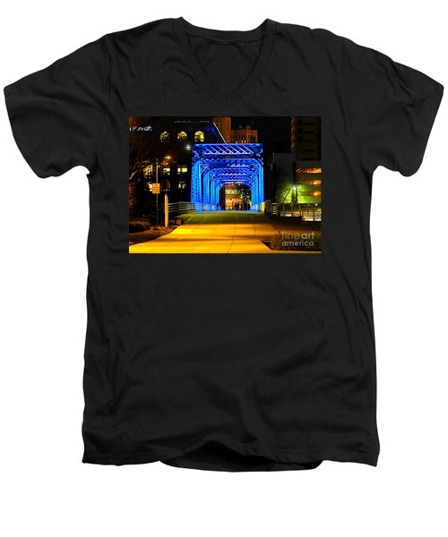 Men's V-Neck T-Shirt featuring the photograph Feeling Blue by Robert Pearson