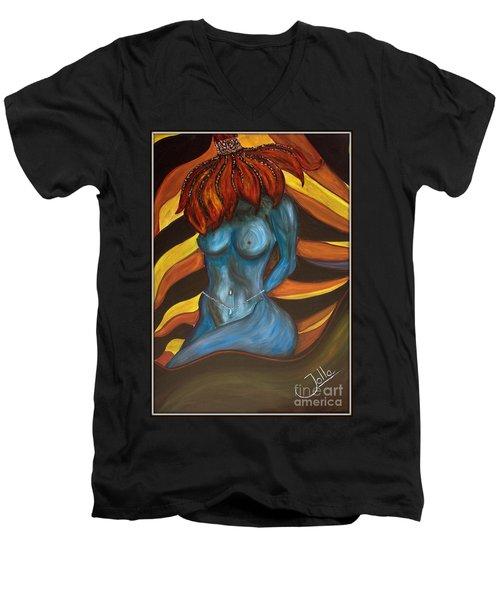 Feeling The Blues... Men's V-Neck T-Shirt