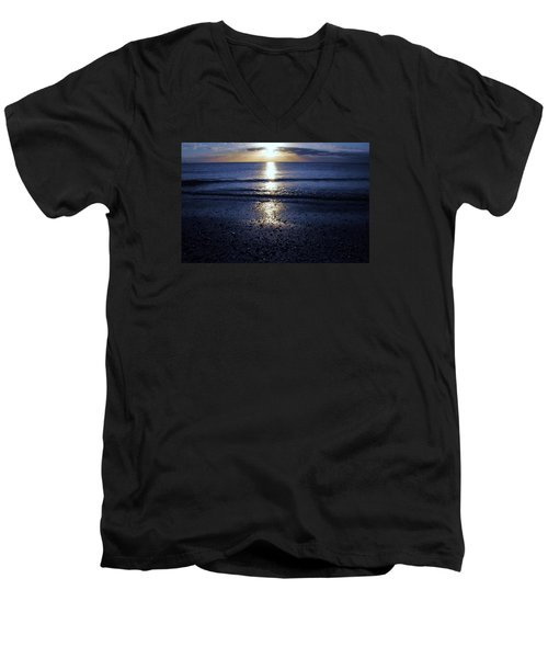 Men's V-Neck T-Shirt featuring the photograph Feeling The Sunset by Kicking Bear  Productions