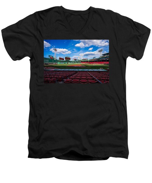 Fenway Park Men's V-Neck T-Shirt by Tom Gort