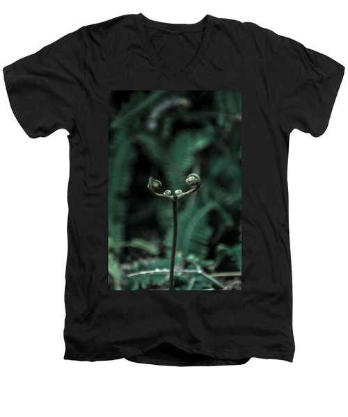 Fern Bud Men's V-Neck T-Shirt