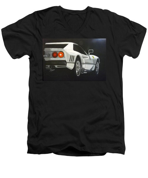 Ferrari 288 Gto Men's V-Neck T-Shirt