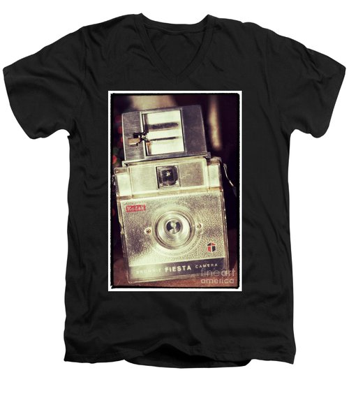 Men's V-Neck T-Shirt featuring the photograph Fiesta by Traci Cottingham