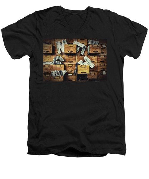 Filing System Men's V-Neck T-Shirt