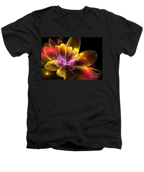 Fire Flower Men's V-Neck T-Shirt