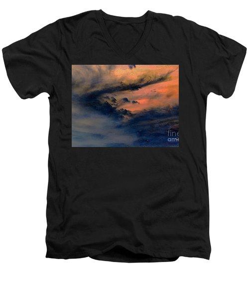Fire In The Hills Men's V-Neck T-Shirt