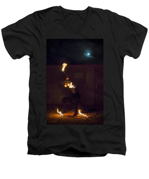 Fire Ninja Men's V-Neck T-Shirt