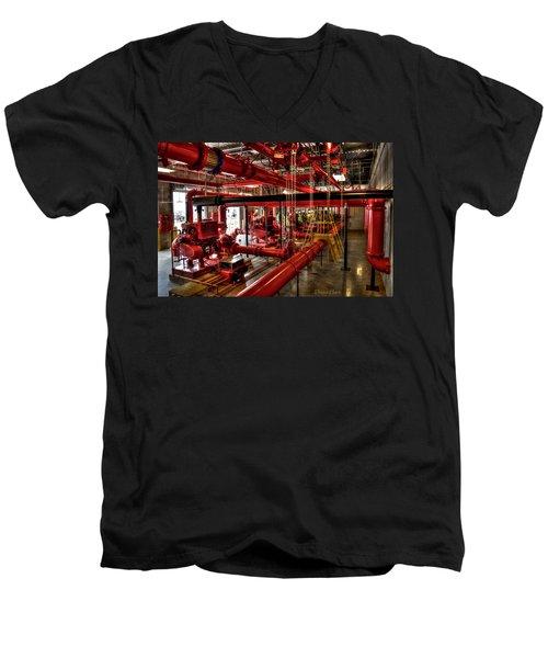 Fire Pumps Men's V-Neck T-Shirt