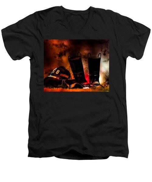 Firefighter Men's V-Neck T-Shirt
