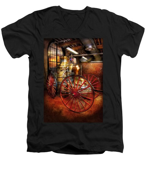 Fireman - One Day A Long Time Ago  Men's V-Neck T-Shirt