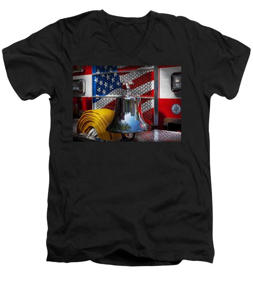 Fireman - Red Hot  Men's V-Neck T-Shirt
