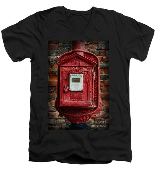 Fireman - The Fire Alarm Box Men's V-Neck T-Shirt