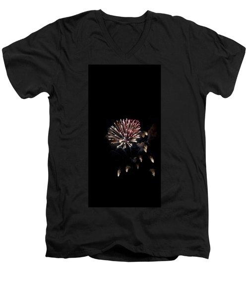 Fireworks At Night Men's V-Neck T-Shirt