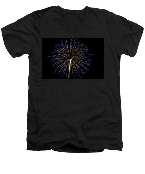 Fireworks Bursts Colors And Shapes 3 Men's V-Neck T-Shirt