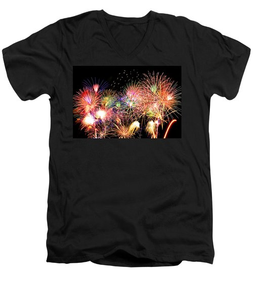 Fireworks Finale Men's V-Neck T-Shirt