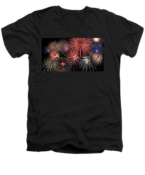 Fireworks Spectacular IIi Men's V-Neck T-Shirt