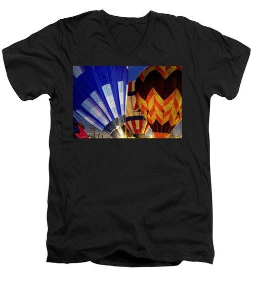 Firing Up Men's V-Neck T-Shirt by Kathy Bassett