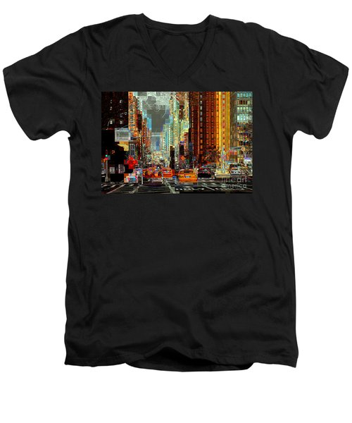 First Avenue - New York Ny Men's V-Neck T-Shirt