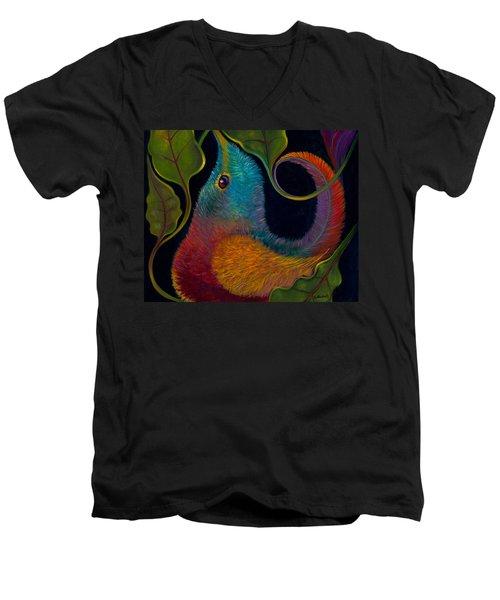 First Flight 3 Men's V-Neck T-Shirt by Claudia Goodell