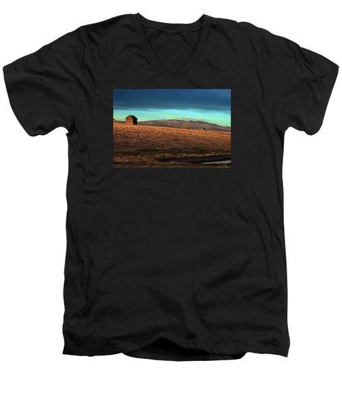 First Light Men's V-Neck T-Shirt by Ed Hall