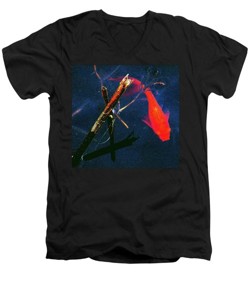 Men's V-Neck T-Shirt featuring the photograph Fish Bubble by Faith Williams