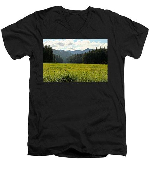 Fish Lake - Open Field Men's V-Neck T-Shirt