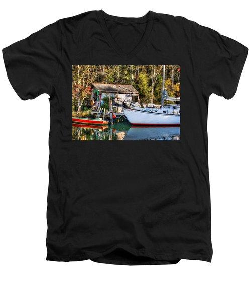 Fish Shack And Invictus Original Men's V-Neck T-Shirt