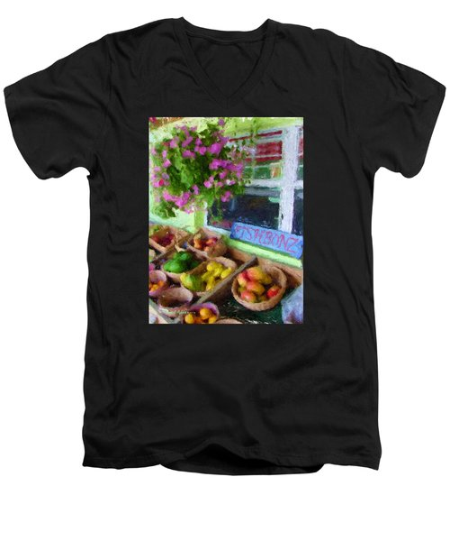 Da111 Fishbonz By Daniel Adams Men's V-Neck T-Shirt