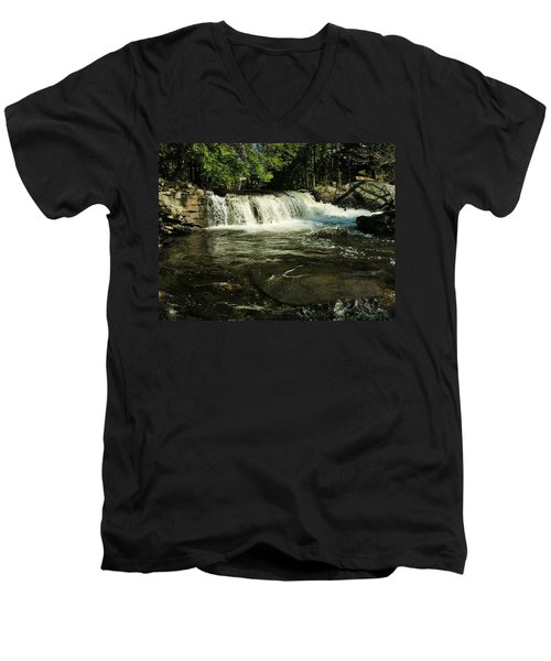 Men's V-Neck T-Shirt featuring the photograph Fishing Hole by Sherman Perry