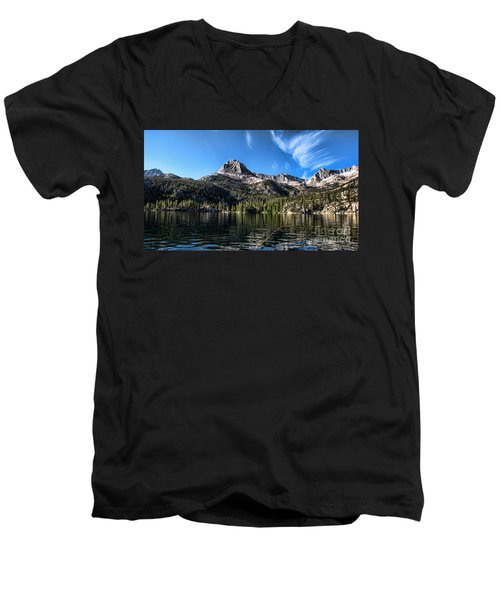 Fishing In Lake Sabrina Men's V-Neck T-Shirt