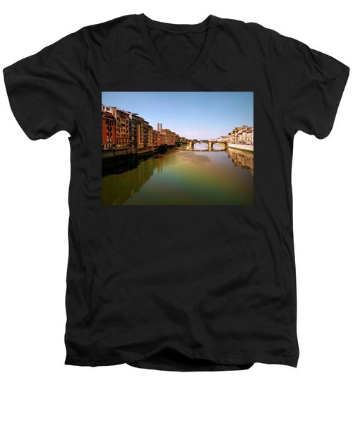 Men's V-Neck T-Shirt featuring the photograph Fiume Di Sogni by Micki Findlay