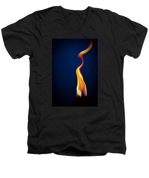 Flame Men's V-Neck T-Shirt by Darryl Dalton