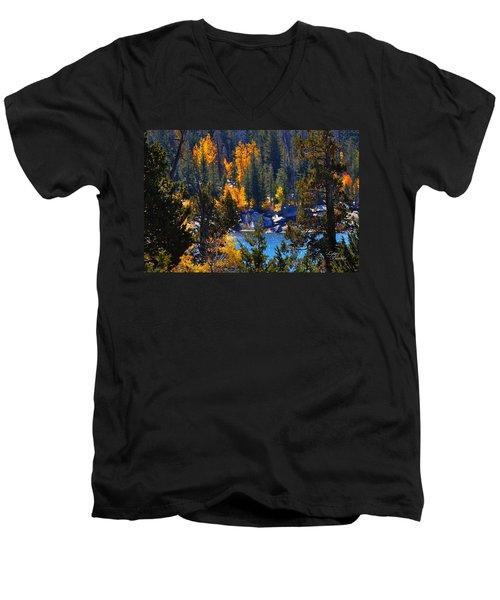 Flaming Aspens Men's V-Neck T-Shirt