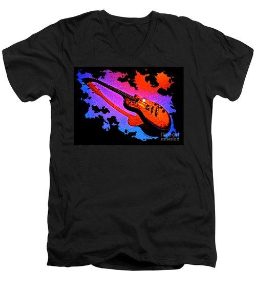 Flaming Rock Men's V-Neck T-Shirt