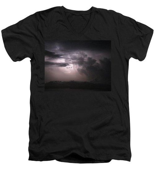 Flashes Of Lightening Men's V-Neck T-Shirt