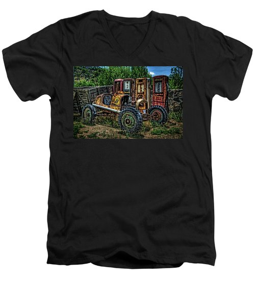 Men's V-Neck T-Shirt featuring the photograph Flathead Ford Racer by Ken Smith