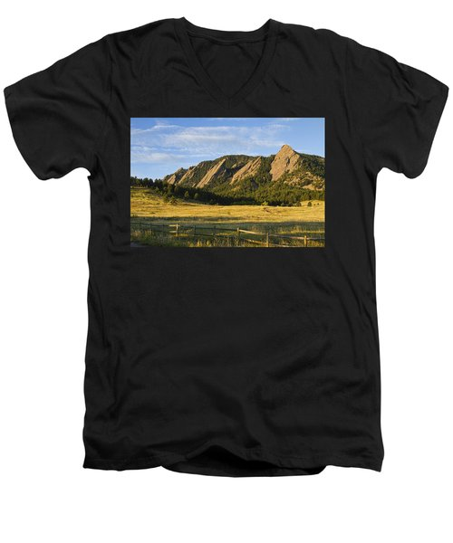 Flatirons From Chautauqua Park Men's V-Neck T-Shirt